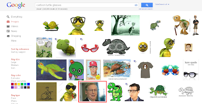McConnell's photo among the turtles