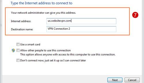 isi nama server VPN