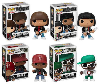 Pop! Rocks Vinyl Figures Wave 3 by Funko - The Ramones (Johnny & Dee Dee) and Public Enemy (Chuck D & Flavor Flav)