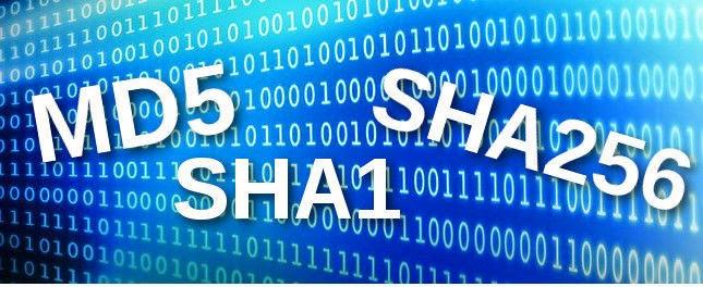 como verificar las md5 sha1 sha sha256 checksums