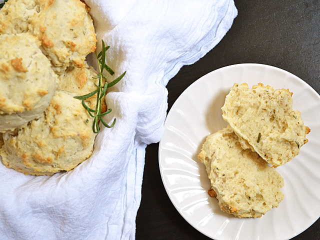 rosemary & black pepper drop biscuits