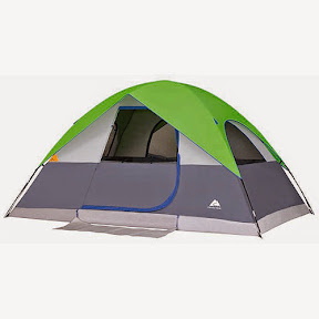 Ozark Trail 6 Person Dome Tent Size 8x12x6u00271  tall. Color Grey w/Lime Green or Orange Note The 6 person is the only model that the fly doesnu0027t cover the ... & Camping Kayaking and Outdoor Gear: June 2014