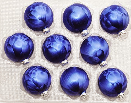 Christbaumkugeln Blau.9x Glas Eislack Christbaumkugeln 7cm Dunkel Blau Weihnachtskugeln