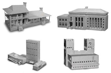 Architectural Landmarks Papercraft