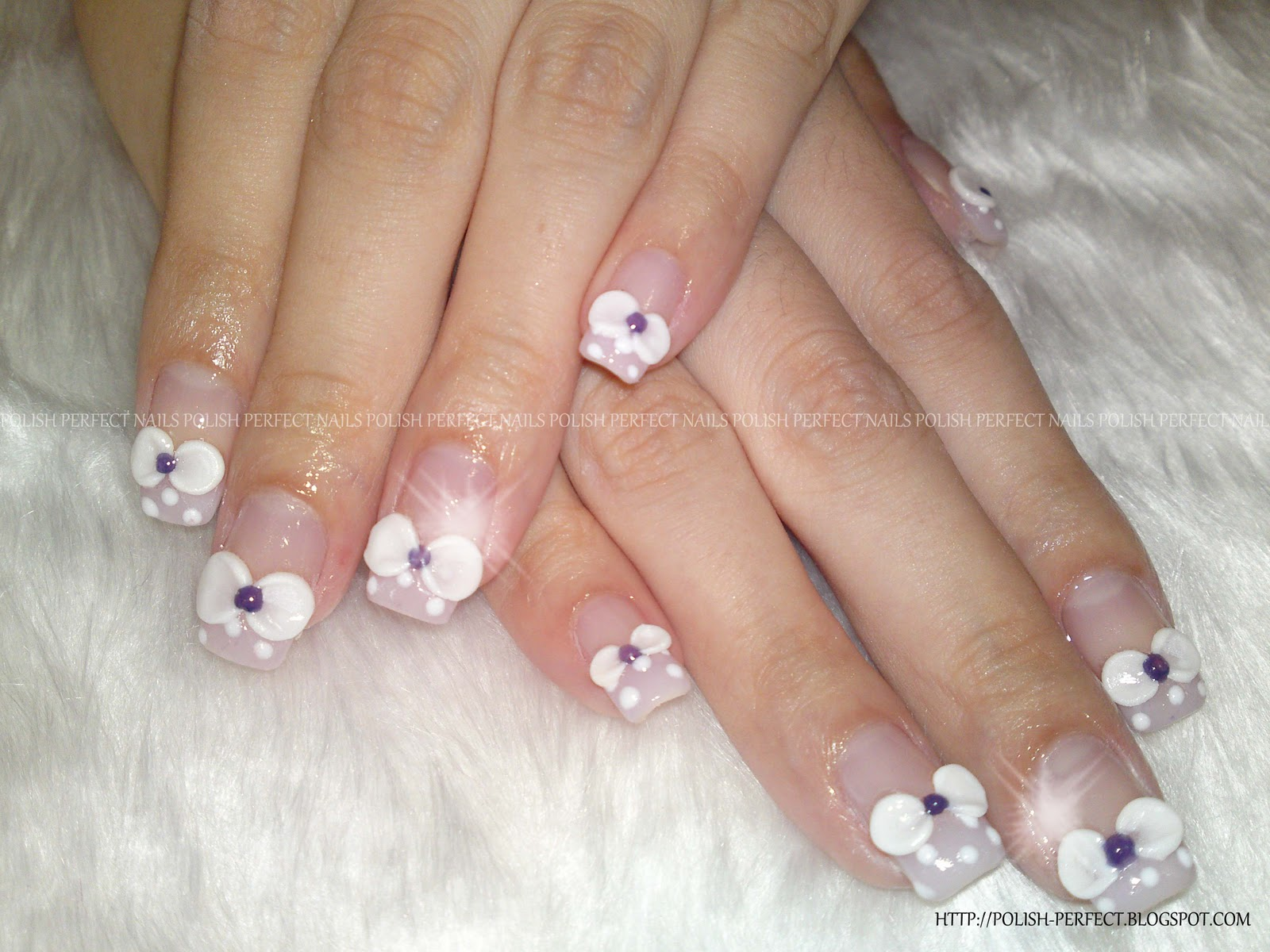 Jen Opted For Pastel Purple French Tips Bows But Without The Blings On Overall Its Princess Syweet