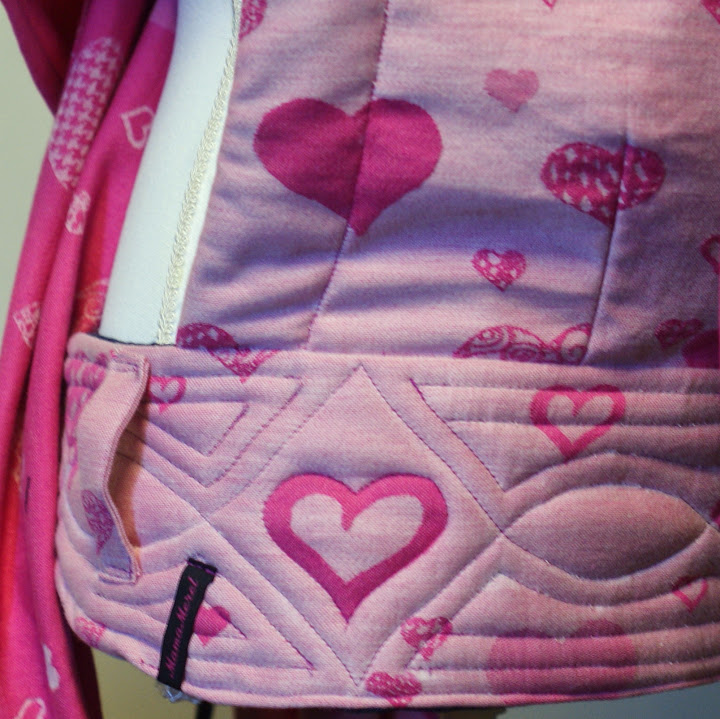 Pollora Pink Love Reversible Mei Tai Combibanden