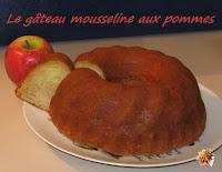 Gâteau mousseline aux pommes - recette indexée dans les Desserts