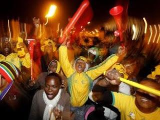 Des supporters Sud-Africains dans les rues de Johannesburg/ Ph. rfi.fr