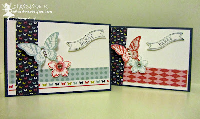 stampin up, petite petals, inkspire_me 141, papillon potpourri, famose fähnchen, bitty banners, thank you, danke