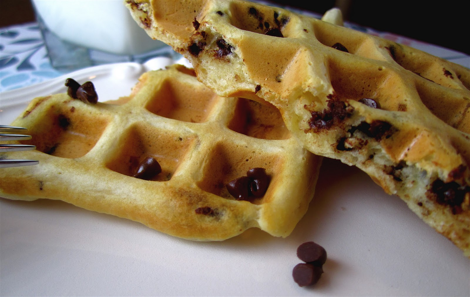 Chocolate Chip Waffles Chocolate chip waffles