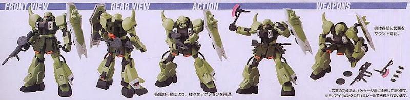 Kết hợp các loại vũ khí cho Zaku Warrior HG Gundam Seed tỷ lệ 1/144