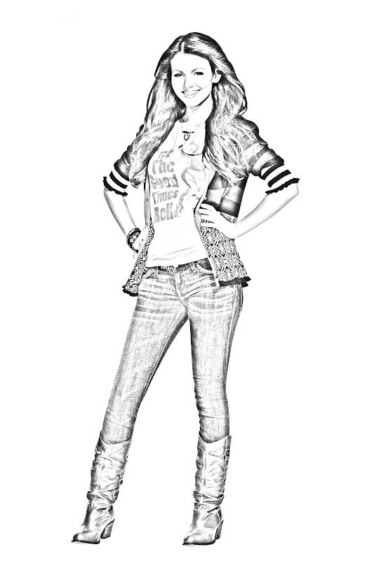 Victorious coloring pages, printables pages for kids
