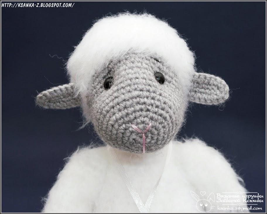 Амигуруми, вязаные игрушки, игрушки спицами, игрушки крючком, вязаная овечка, барашек крючком, Amigurumi, crocheted toys, Knitting toys, crocheted lamb