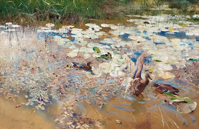 Bruno Liljefors - Wild ducks 1887