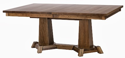Turin Dining Table in Tudor Hickory, 70″ x 42″ x 30″