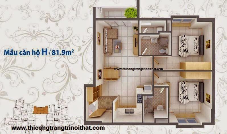 Trang trí nội thất căn hộ Quận 1