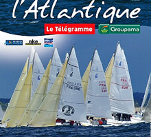 J/80 one-design sailboat- sailing Lorient, France