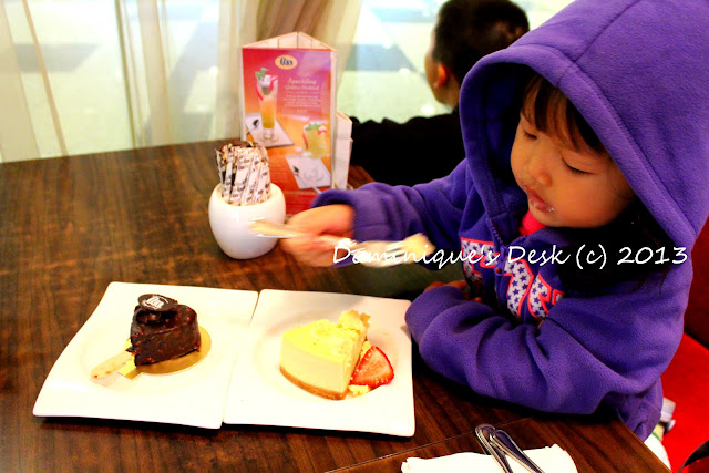 Tiger girl eating her cheesecake