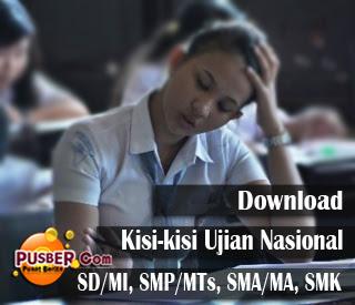 Download kisi-kisi Ujian Nasional (UN) 2013 SD SMP SMA SMK