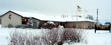 Cimarron UMC blanketed in a foot of snow