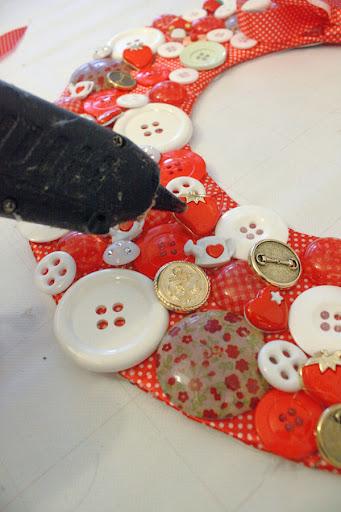 botões na guirlanda