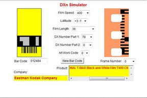 Kodak T400CN a DXn simulator oldalán