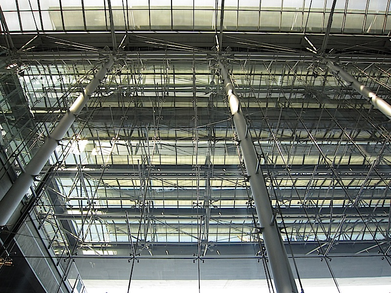 steel and glass at Bangkok's Suvarnabhumi Apirport