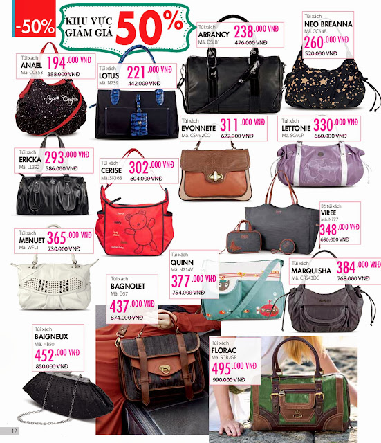 Sophie Outlet 05 khuyến mại 50% tháng 01/2014