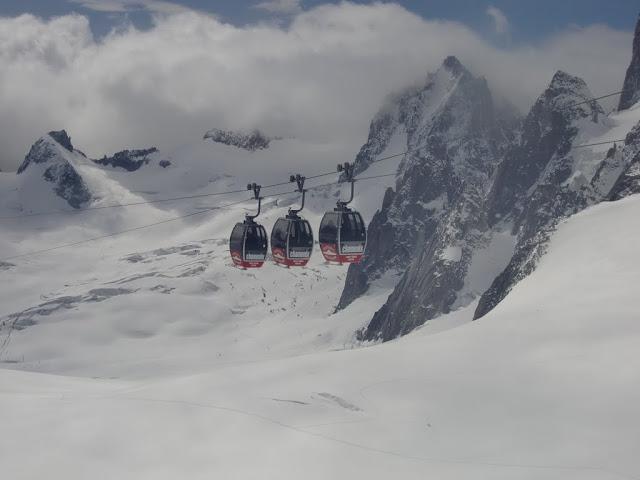 標高3400mのゴンドラ
