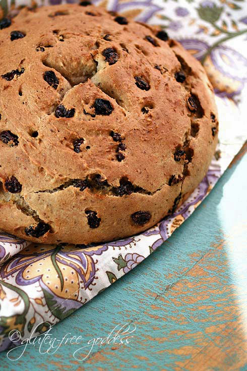Gluten free Spotted Dog soda bread is an Irish classic with a twist