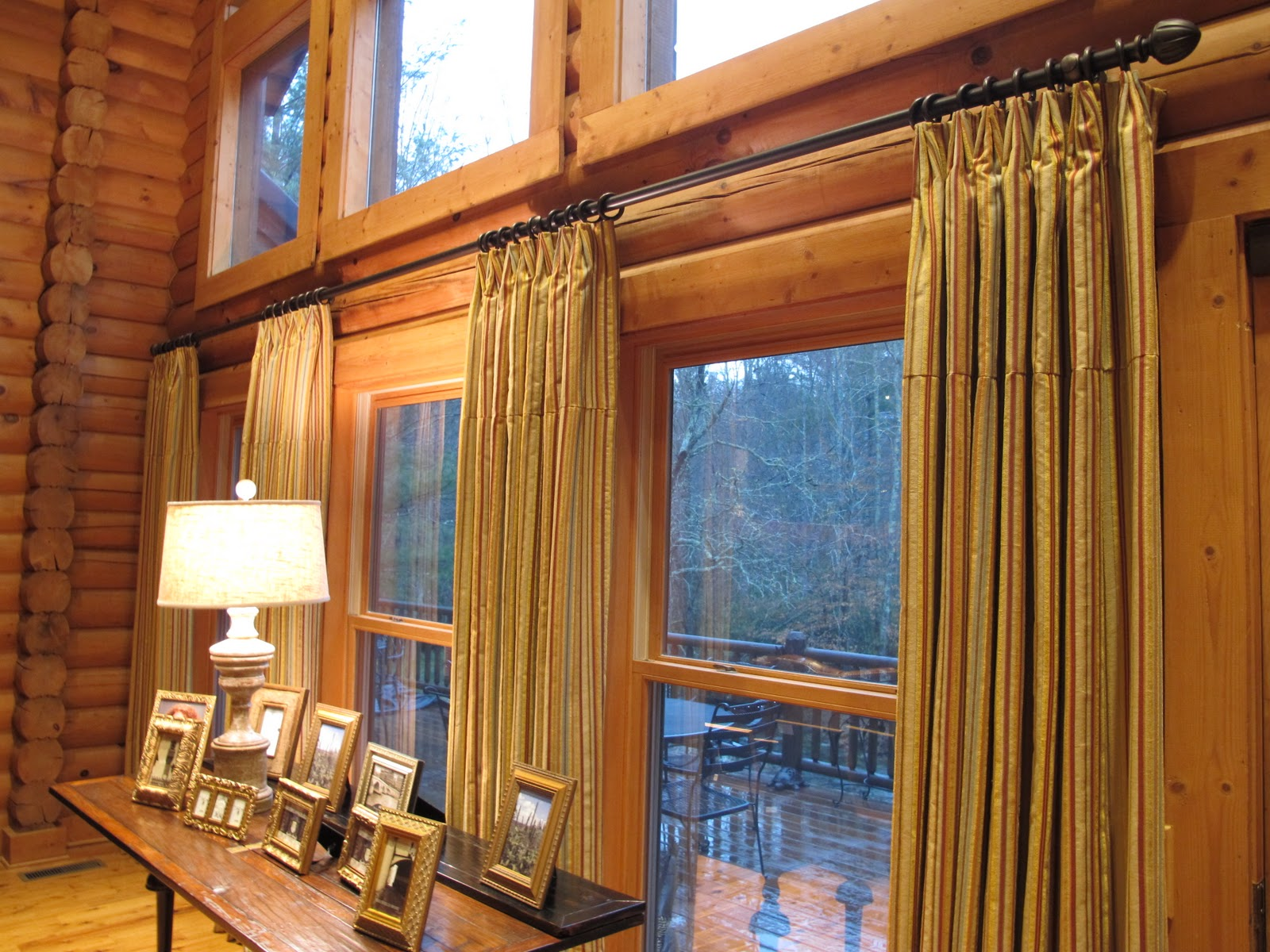 Sew bee it dressing up windows beauty and functionality for Windows for log cabins