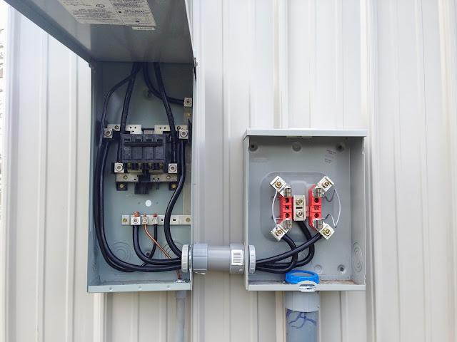 wiring 100 amp load center meter to service  wiring  free