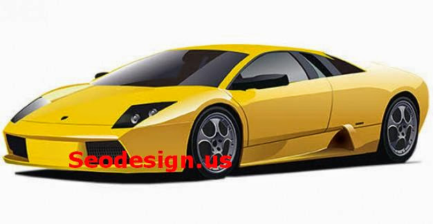 Yellow Lamborghini Vector Graphic