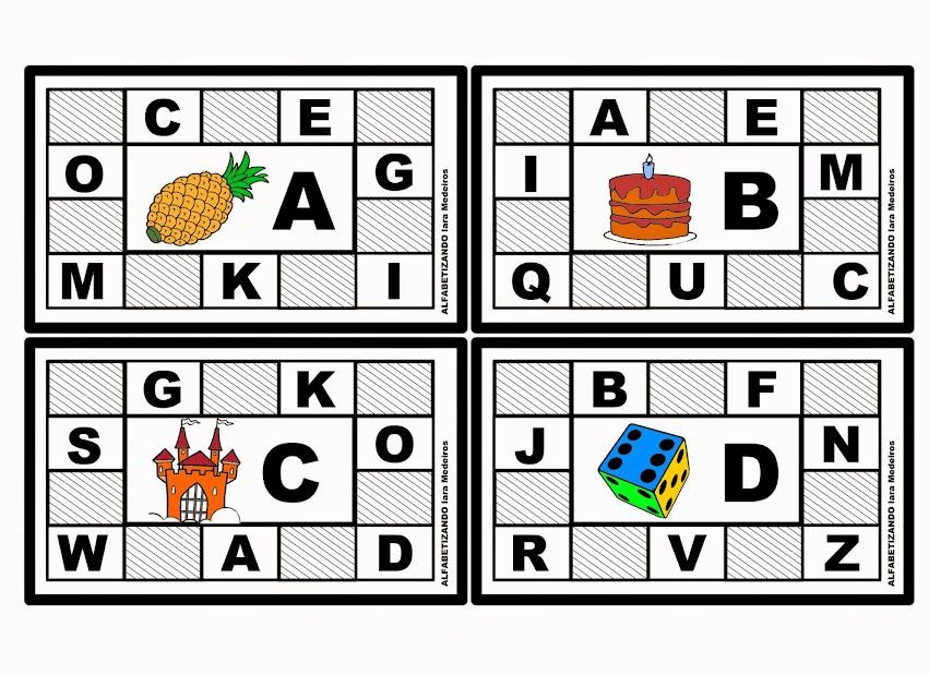 Populares Alfabetizando - Iara Medeiros: Bingo do Alfabeto RG65