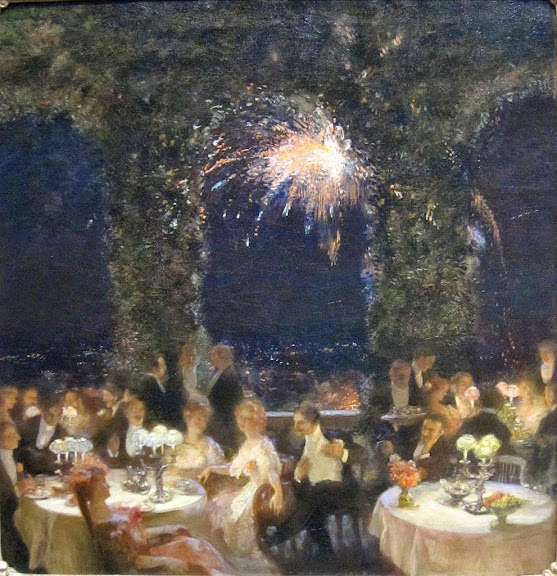 Gaston La Touche - Dinner at the Casino