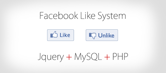 Facebook Like System with Jquery, MySQL and PHP.