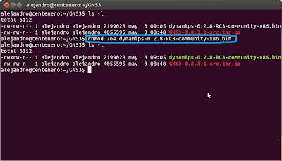 Instalar Dynamips y GNS3