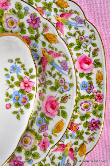 1939 Crown Derby Floral Pattern with little birds