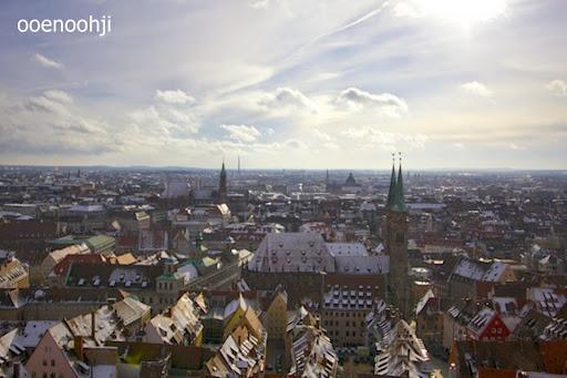 ニュルンベルク・カイザーブルグ城の高台からの景色