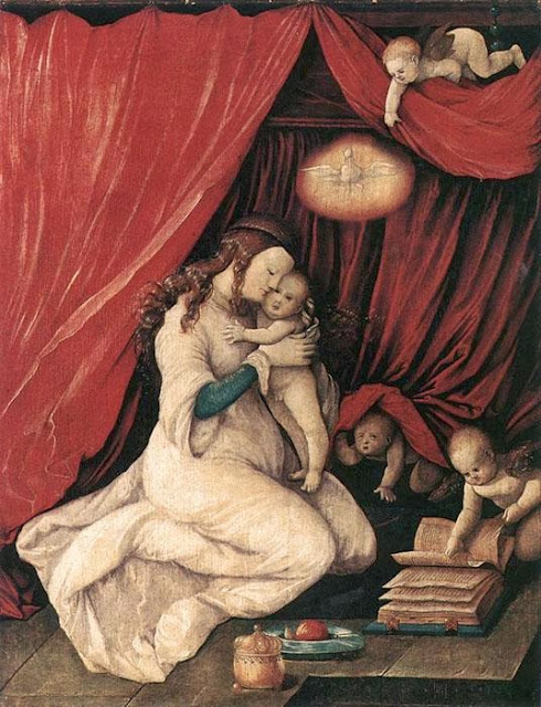 Hans Baldung - Virgin and Child in a Room