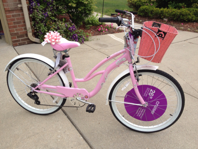 Everyday Highs and Lows: the big pink ridiculous bike!
