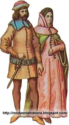 historia vestido siglo xv: