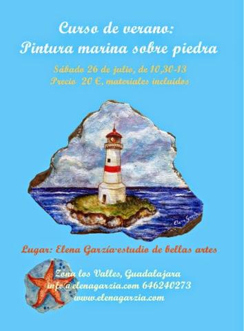 Curso de verano pintura marina en Guadalajara. Los faros.