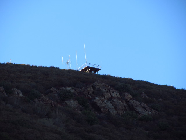 looking up to the lookout tower