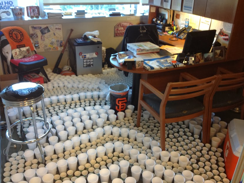 The Beauty Of This Prank Is That Person Can T Just Come In And Knock All Cups Over To Get Desk They Have Take Each Cup One By