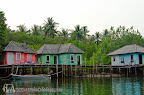 Stilts house on Klong Prao river