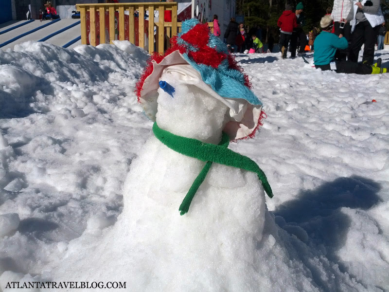 Снежная горка Сноу Маунтин в Атланте