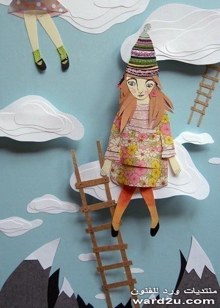 قصص الاطفال فى تابلوهات ورق