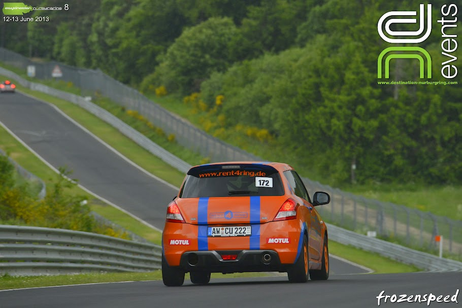 CU Rent4Ring Swift in action at the Nurburgring