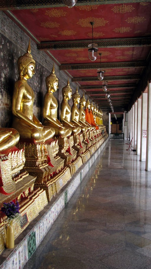 Line of Buddhas at Wat Suthat